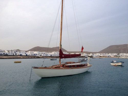 Anchored in the tiny port in Graciosa.