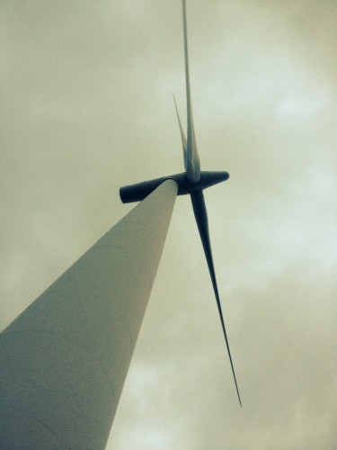 Wind farm - something terrifying about standing under one of these!