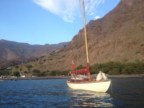 The rolly anchorage at Tarrafal.